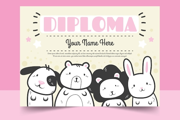 Kids diploma sjabloon