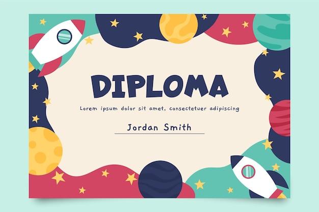 Kids diploma sjabloon