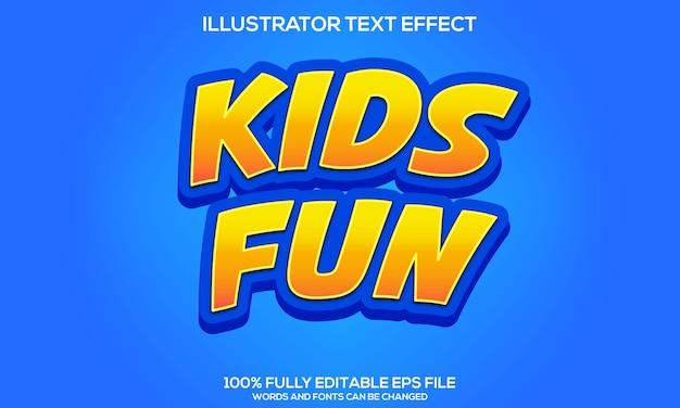 Kids fun text effect-sjablonen