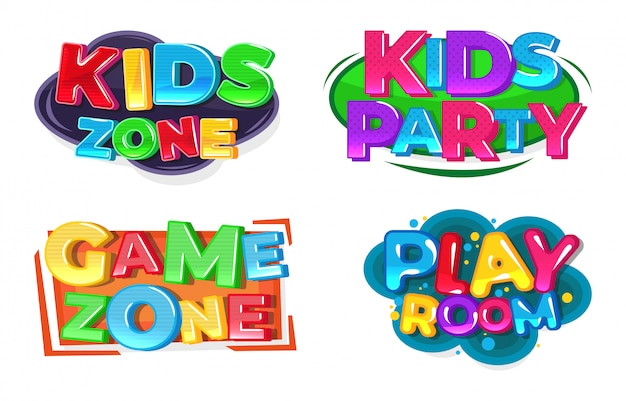 Kids game zone logo. speel kamer.
