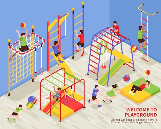 Kids sports speeltuin achtergrond Gratis Vector