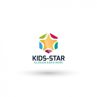 Kids star template logo