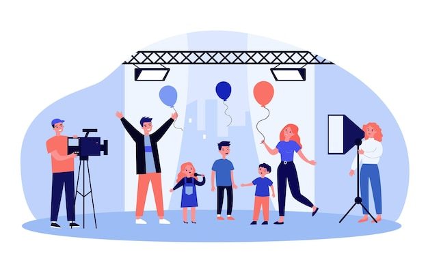 Kids talentenjacht op tv met kinderen en ouders