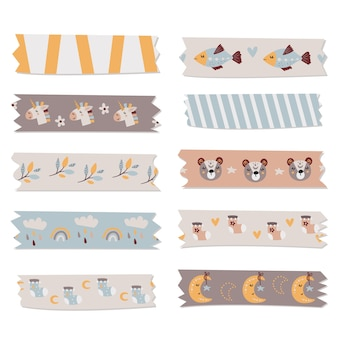 Kids washi tape-collectie voor notities