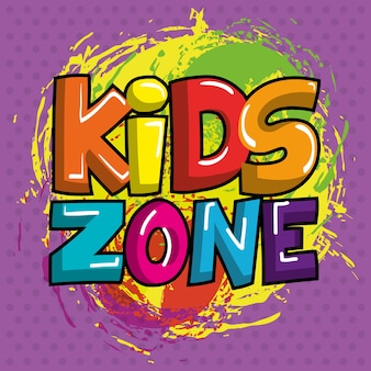Kids zone poster icoon