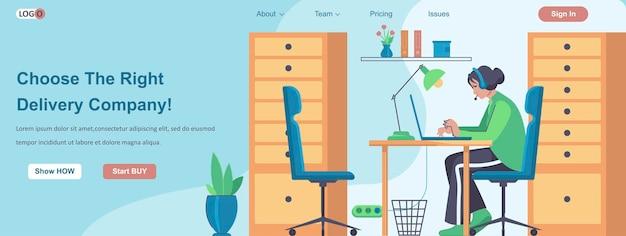 Kies het juiste concept voor de webbanner van een bezorgbedrijf