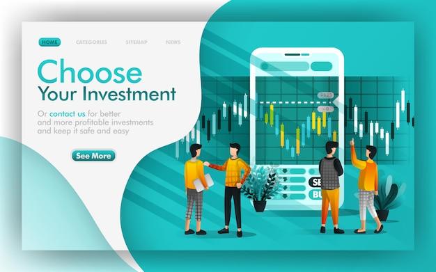 Kies uw investering en online bankieren
