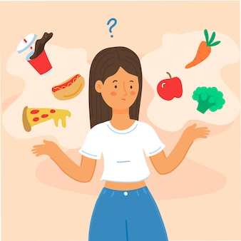 Kiezen tussen gezond of ongezond eten