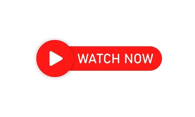 Kijk nu knop. bekijk online stream. vectoreps 10. geïsoleerd op witte achtergrond.