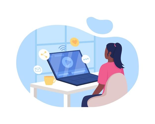 Kijken naar video online 2d-webbanner, poster