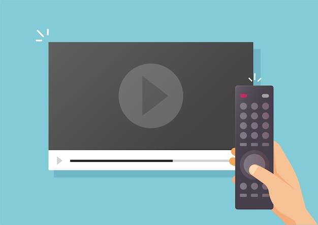Kijken naar videofilminhoud of platte cartoonfilms