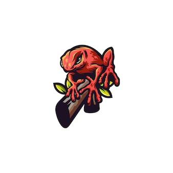 Kikker dier logo
