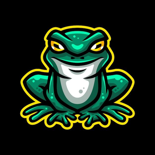 Kikker mascotte logo