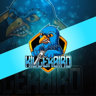 Killer bird esport mascotte logo