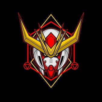 Killer robotkop met heilige geometrie 14