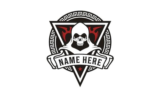 Killer skull badge game community-logo