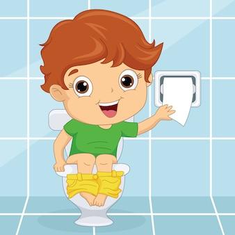 Kind bij toilet