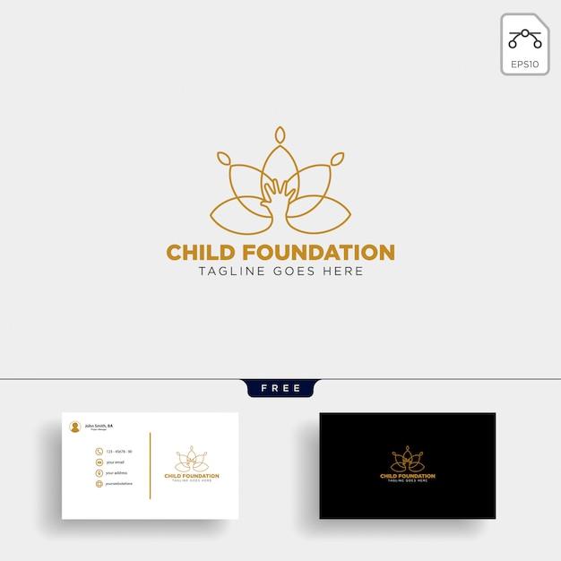 Kind stichting logo sjabloon