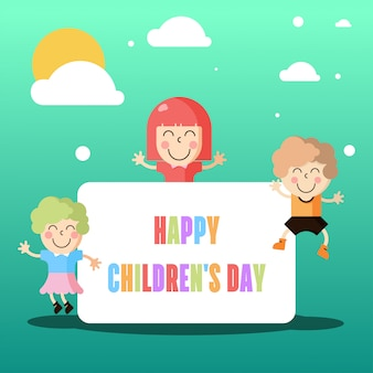 Kinder dag illustratie