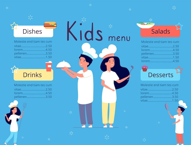 Kinder menu