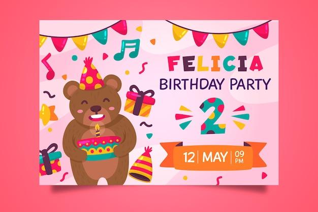 Kinder verjaardagskaart ontwerp