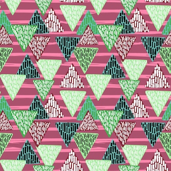 Kinderachtig driehoekpatroon tekenen
