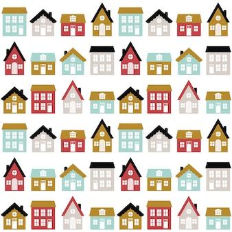Kinderachtig naadloos patroon in skandinavische stijl.