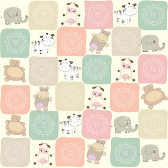 Kinderachtig naadloos patroon met speelgoed