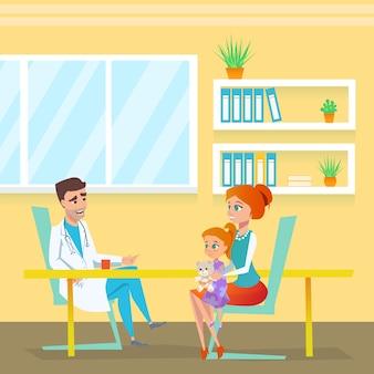 Kinderarts doc appointment in ziekenhuis kabinet