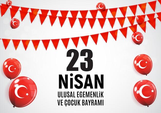 Kinderdag turks spreek, cumhuriyet bayrami.