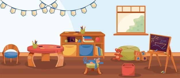 Kinderdagverblijf kleuterschool scène