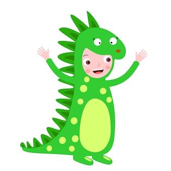 Kinderdinosaurus kostuum