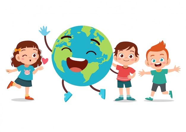 Kinderen aarde dag
