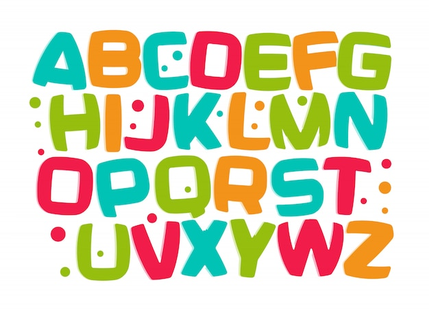 Kinderen alfabet, kind letters set