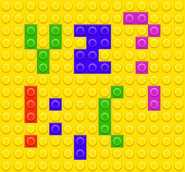 Kinderen baksteen speelgoed alfabet en symbolen