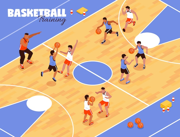 Kinderen basketbal team achtergrond