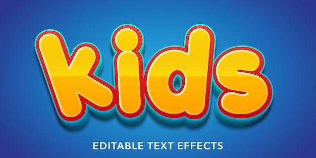 Kinderen bewerkbare teksteffecten
