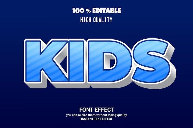 Kinderen, bewerkbare teksteffectstijl