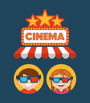 Kinderen bioscoopbezoekers