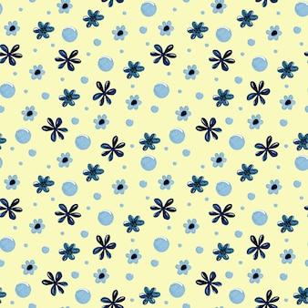 Kinderen bloem aquarel naadloze patroon behang