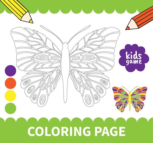 Kinderen bord kleurplaten spel voor kleuters en basisschoolleerlingen werkbladen