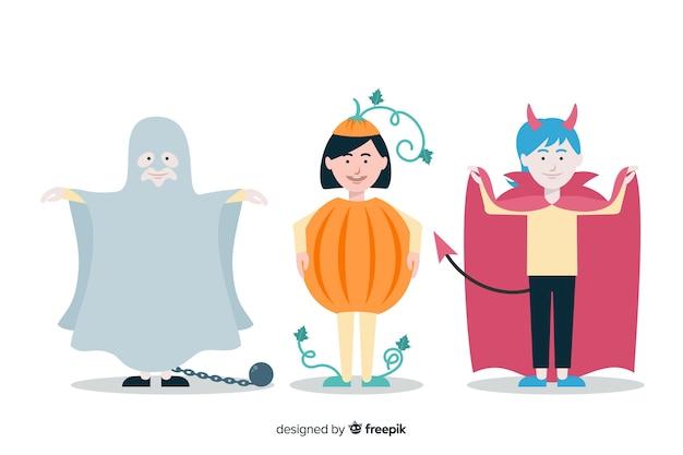 Kinderen collectie kostuums voor halloween-feest