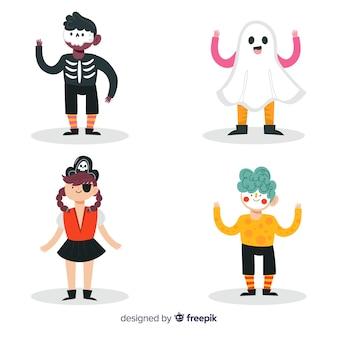 Kinderen collectie kostuums voor halloween nacht