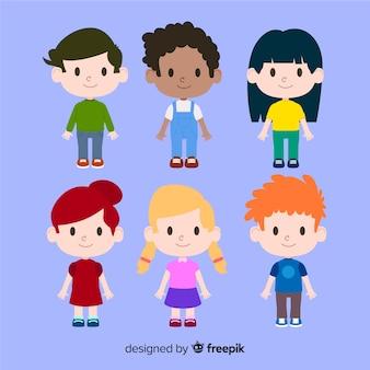 Kinderen dag karakters