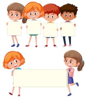 Kinderen die de balankantijn houden