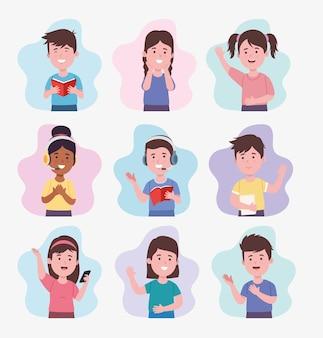 Kinderen die verschillende activiteiten doen