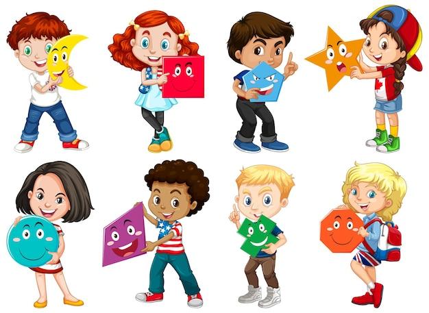 Kinderen die wiskundige vorm houden