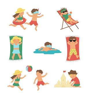 Kinderen die zomeractiviteiten doen