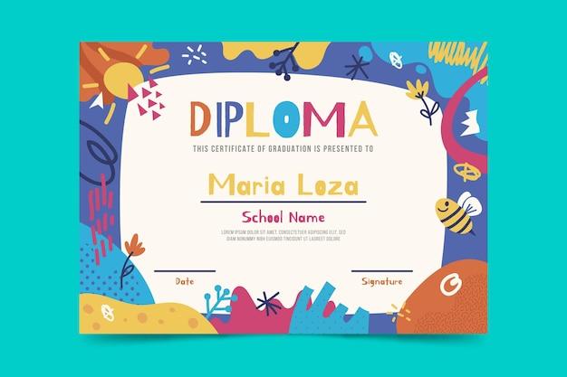 Kinderen diploma sjabloon