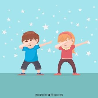 Kinderen doen deppen beweging
